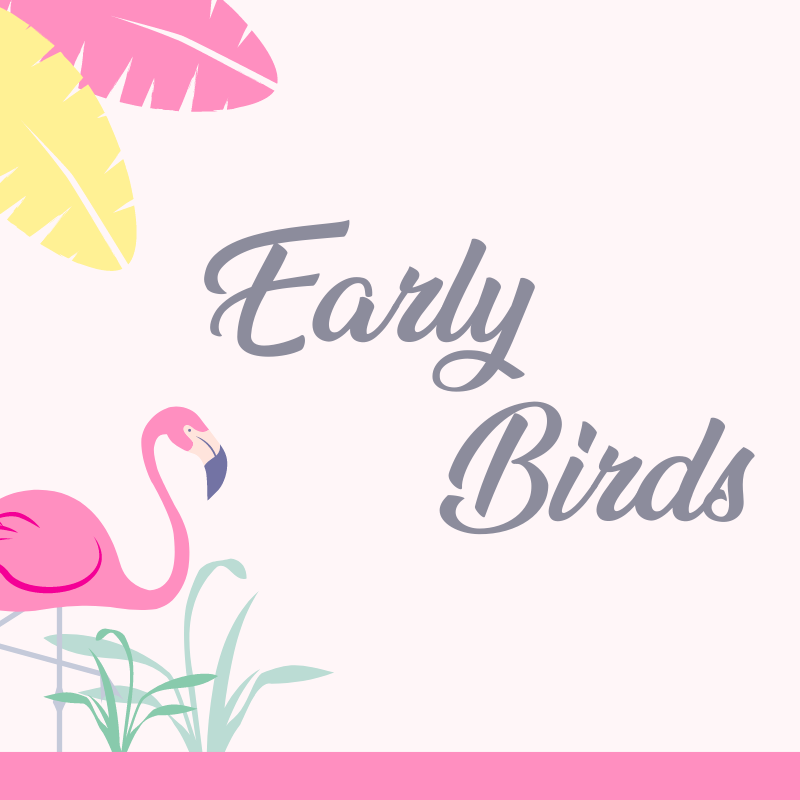Early Bird Pricing Party Stylists Australia